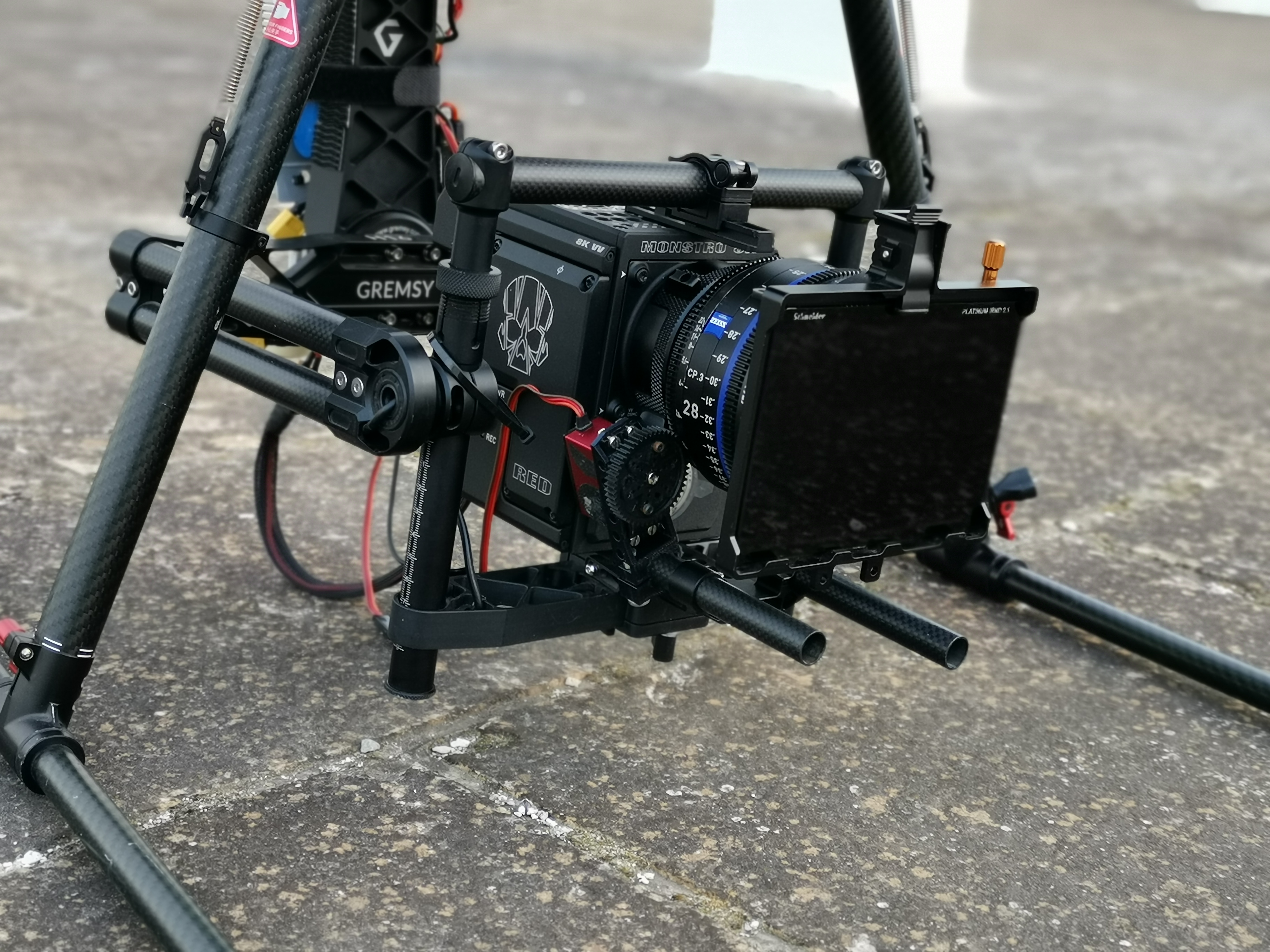 Red Monstro 8K VV with Zeiss CP3: Drone aerial shooting