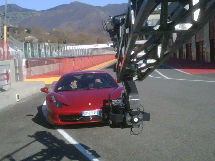 Riprese video per spot Ferrari F458 COCKPIT