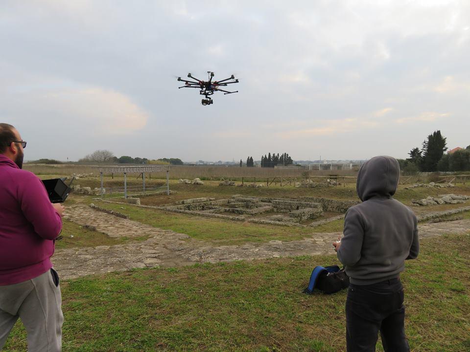 Sessioni di AEROFOTOGRAMMETRIA presso lo scavo di RUDIAE LECCE